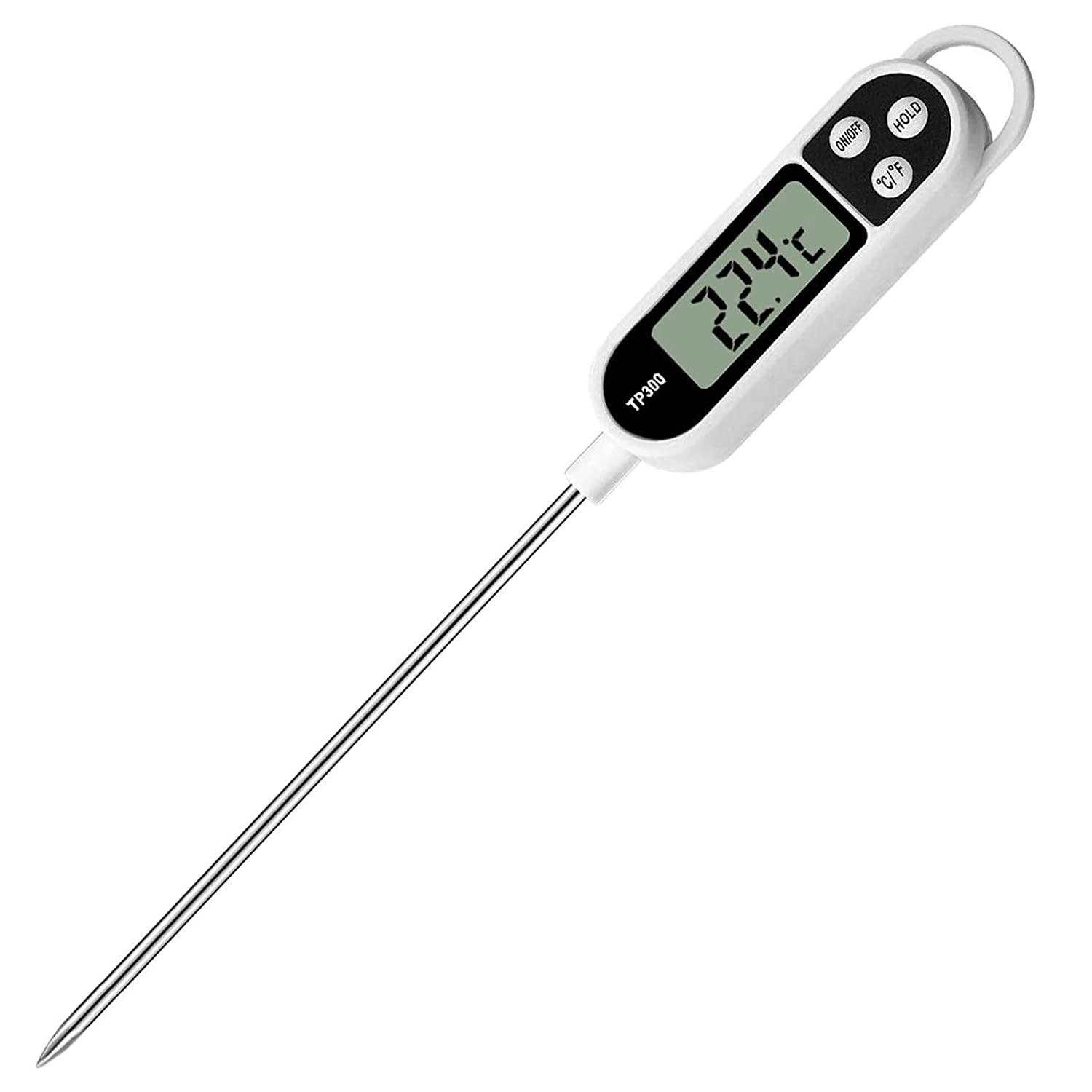 Instant Read Meat Thermometer, Digital Food Thermometer Food Cooking Thermometer for Grilling Candy BBQ Smoker Grill Kitchen Oil, Milk, Bath Water, Deep Fry Thermometer