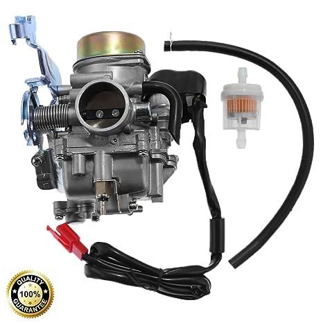 amazon com: carburetor assembly for manco talon linhai bighorn 260cc 300cc  off road atv utv carb: automotive