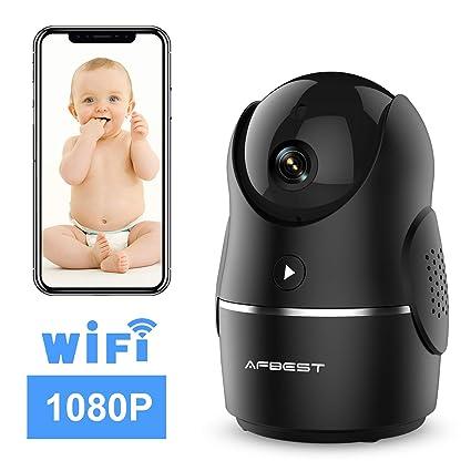 WLAN IP Kamera 1080P Überwachungskamera Nachtsicht Indoor Kamera Baby Monitor DE