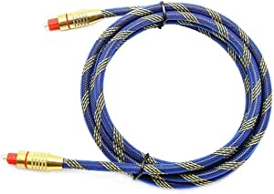 OD6.0 Digital Fibre Cable Optical Audio Toslink SPDIF CD DVD Cable for Home Theater, Sound Bar, TV 1.8m