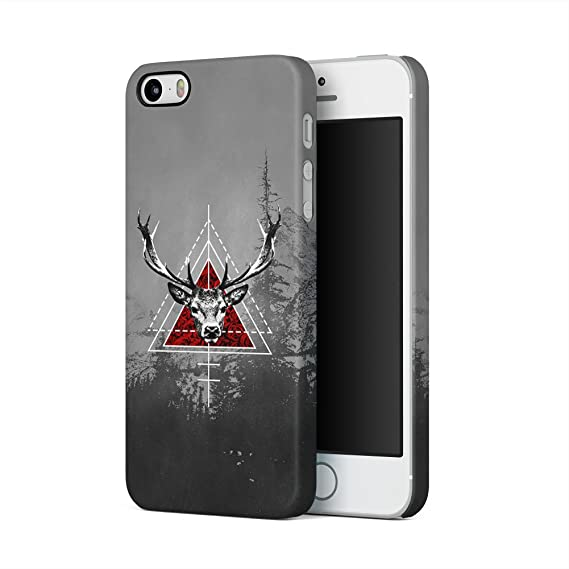 bb14ab422a8209 Amazon.com: Deer Head Forest Mountains Cover Apple iPhone 5, iPhone ...