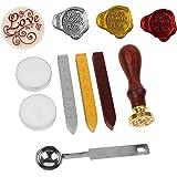 Ceralacca, antico sigillo di cera Kit Stamp, Vintage timbro classico sigillo di ceralacca impostato con i bastoni Oro Rosso(Love)