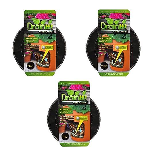 DrainIt! Disco contenedor para plantas, 20, 3 a 25, 4 cm ...
