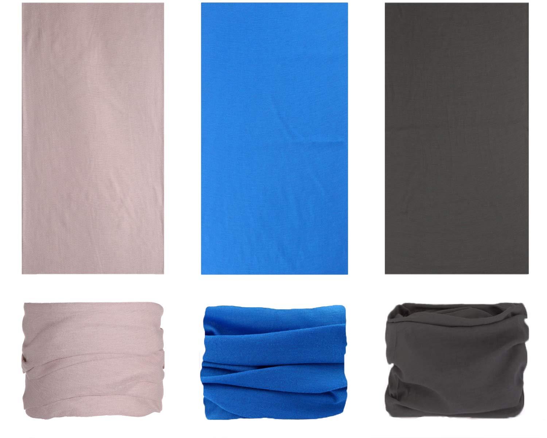 pasamonta/ñas y pa/ñuelo para deporte ideal como pa/ñuelo para la cabeza Bandana el/ástica multiusos con protecci/ón ultravioleta braga para el cuello 5 unidades bufanda m/ágica