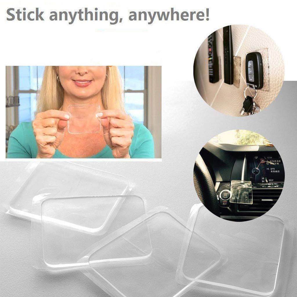 Durable bing-T 15PC Grip Sticky Anti Slip Pads fo rKitchen Car Holder Easy to Install White Clear /& Non-Abrasive for a Better Grip Non-Slip