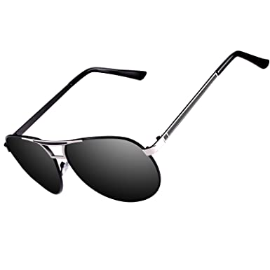 b4ad3f31aa Kennifer Aviator Polarized Sunglasses Mens Large Metal Frame Fashion Mirror  Lens Unisex Driving Fishing Golf Sport Glasses
