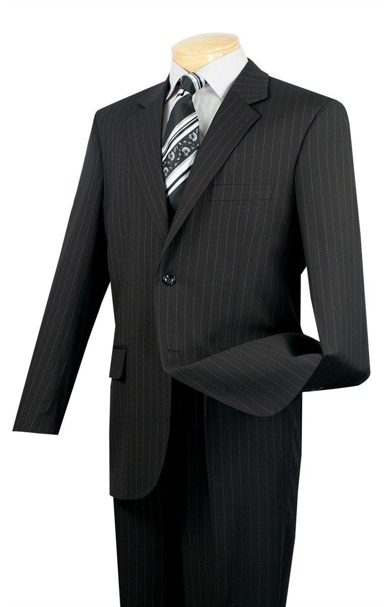 SUITS OUTLETS Business Suit Classic Fit 2 Buttons Fancy Stripe