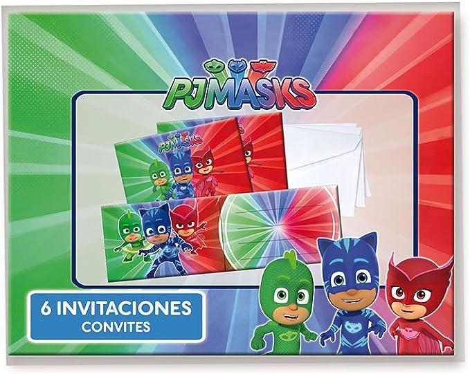 PJ Masks Invitaciones para decoración de fiestas (Verbetena 016001333)