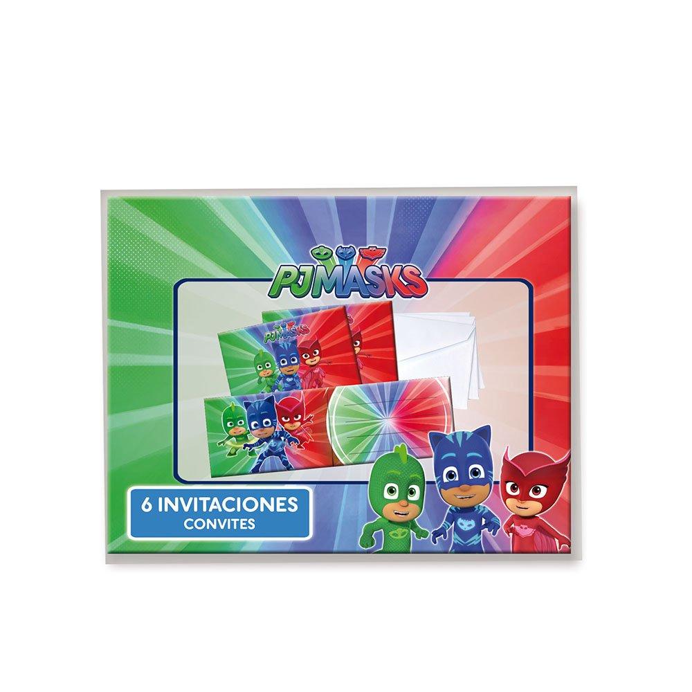 PJ Masks Invitaciones para decoración de Fiestas (Verbetena 016001333): Amazon.es: Juguetes y juegos