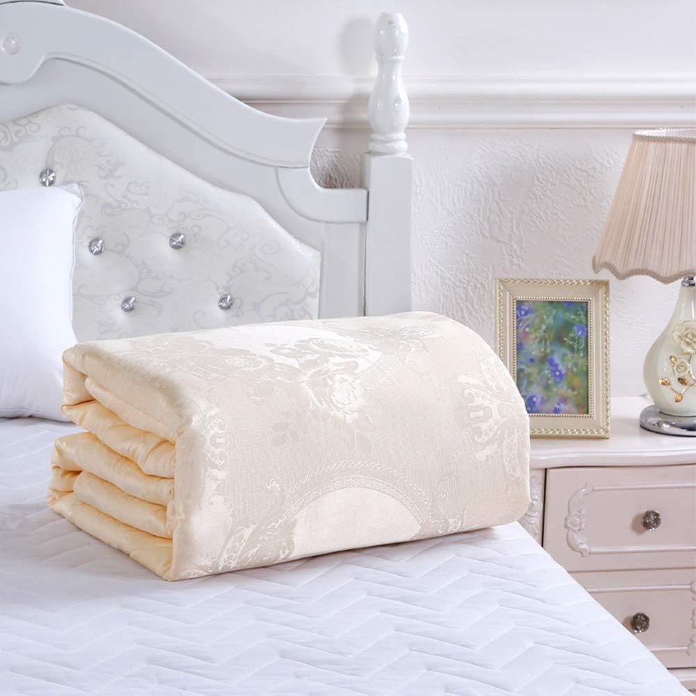 LyJ+evanism Home Hypoallergenic Silky Cotton Quilt,Comfortable Sleeping Duvet/Blanket,Bedding Quilting Supplies (Color : Orange, Size : 200230)
