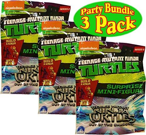 Teenage Mutant Ninja Turtles Blind Bag Mini Figures (Series 2) Gift Set Party Bundle - 3 Pack ()