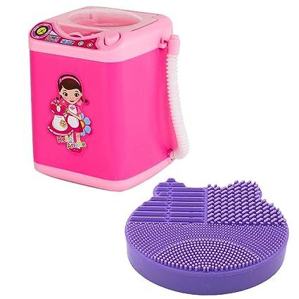 Limpiador de brochas de maquillaje, mini lavadora automática para ...