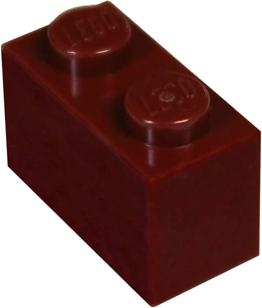 LEGO Parts and Pieces: Dark Red 1x2 Brick x100
