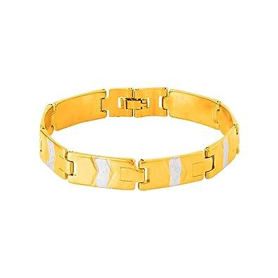 fd7ec63ecccfe Amazon.com: Dare By Voylla Men's Brass Bracelet in Dual Tone from ...
