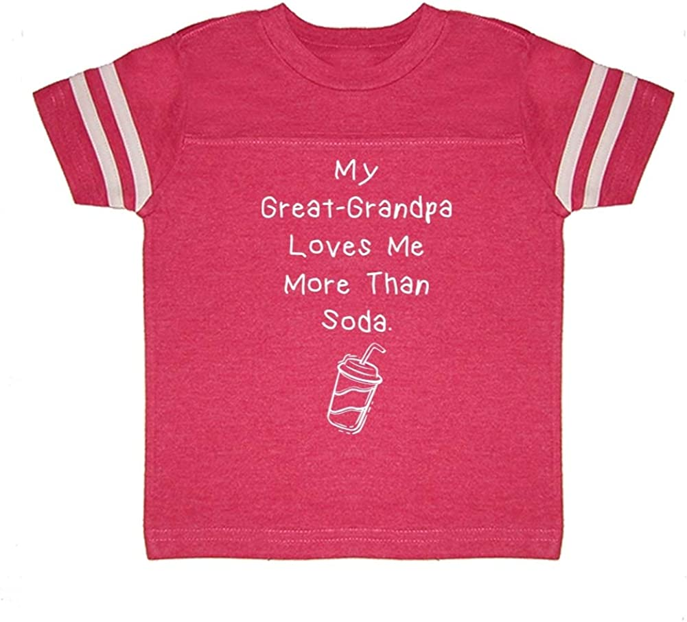 My Great-Grandpa Loves Me More Than Soda Toddler//Kids Sporty T-Shirt