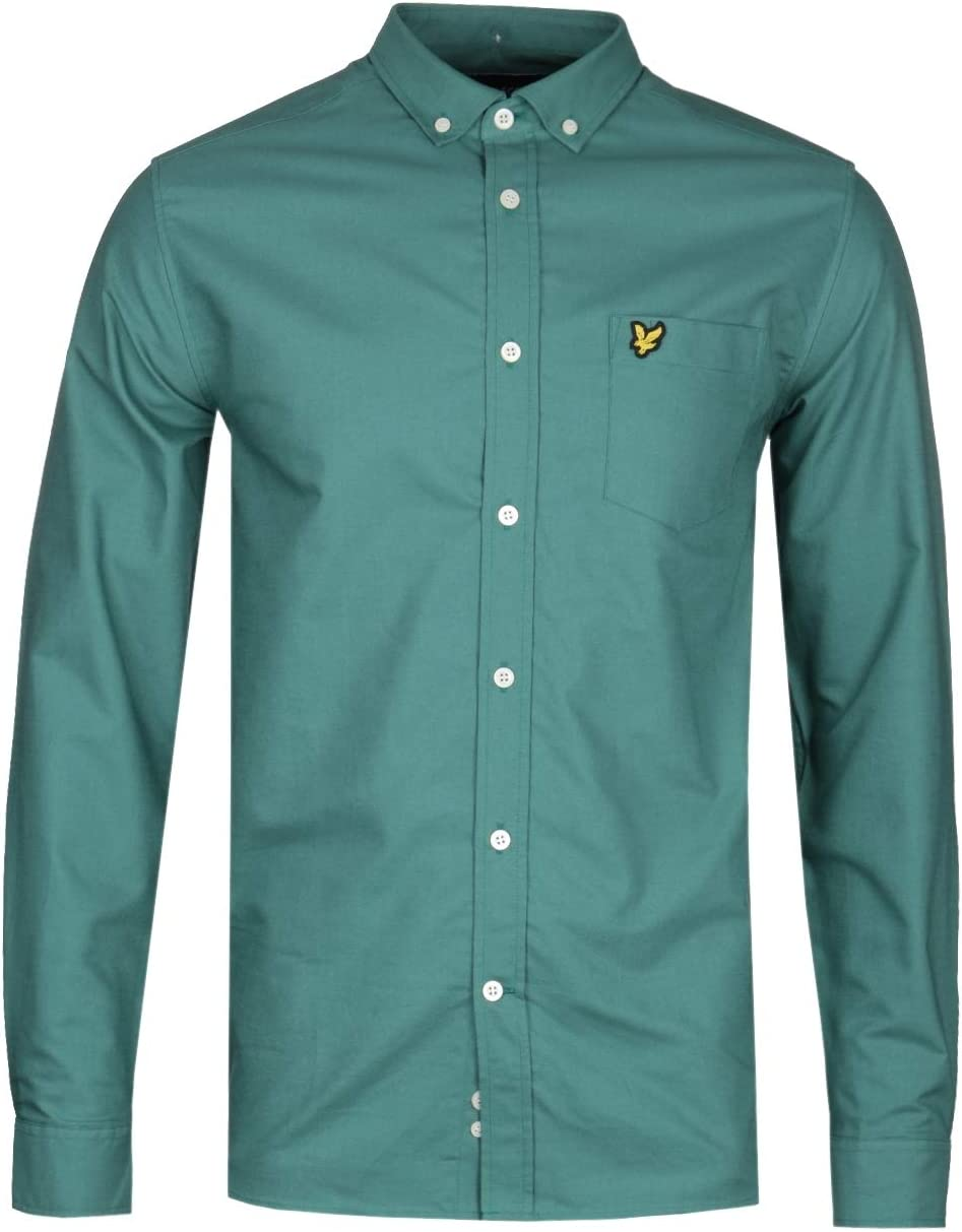Lyle & Scott Camisa Oxford de Color Verde Salvia