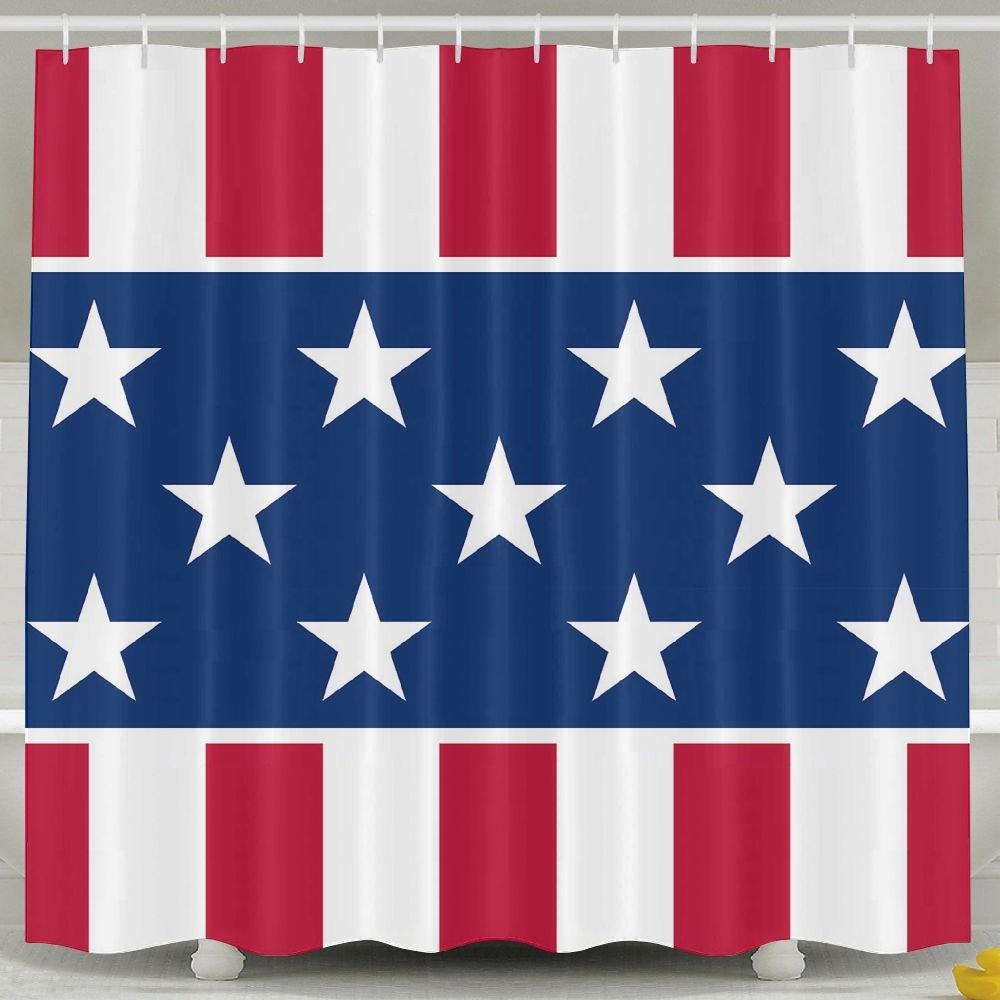 BINGO FLAG Funny Fabric Shower Curtain New Flag Waterproof Bathroom Decor With Hooks 60 X 72 Inch