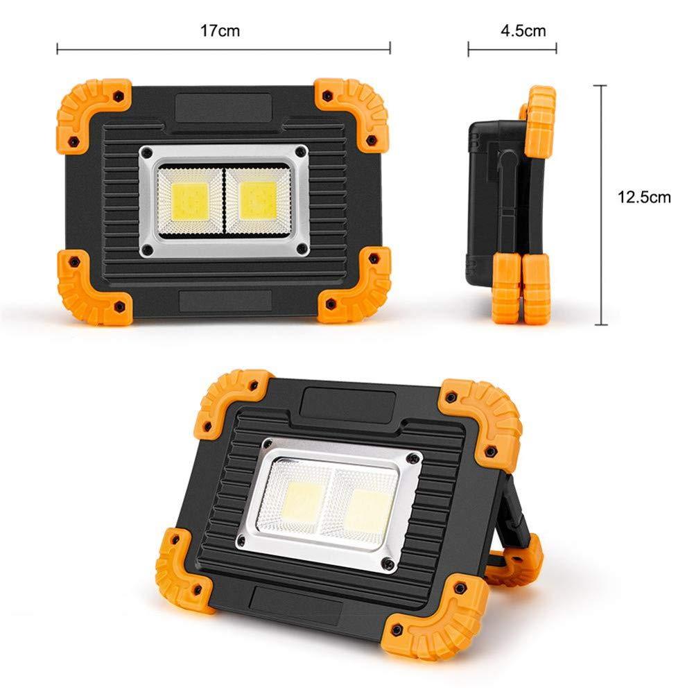 10W port/átil a Prueba de Agua IPX4 Spotlight 750lm Super Brillante COB LED del Trabajo de Camping al Aire Libre Recargable Linterna LED Lampe