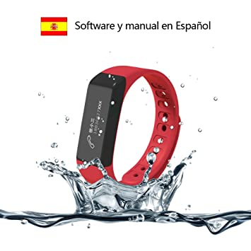 Pulsera de Fitness, Surwin I5 Plus pulsera de actividad pulsera de Inteligente con Monitor de Actividad y Descanso, Consumo de Calorías, Distancia, ...