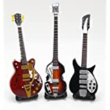 [Musical Story] ミニチュア ギター 15cm シリーズ BEATLES ビートルズ 3点セット
