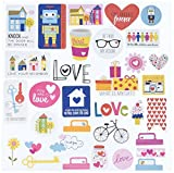 Bella Blvd 1260 Illustrated Faith Basics Paper Pieces Cardstock Die-Cuts, Family, Multicolor