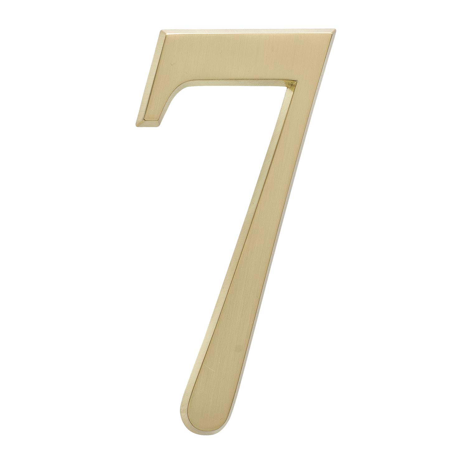 Whitehall Products DeSign-it Standard Plaque, Number ''7'', Satin Brass