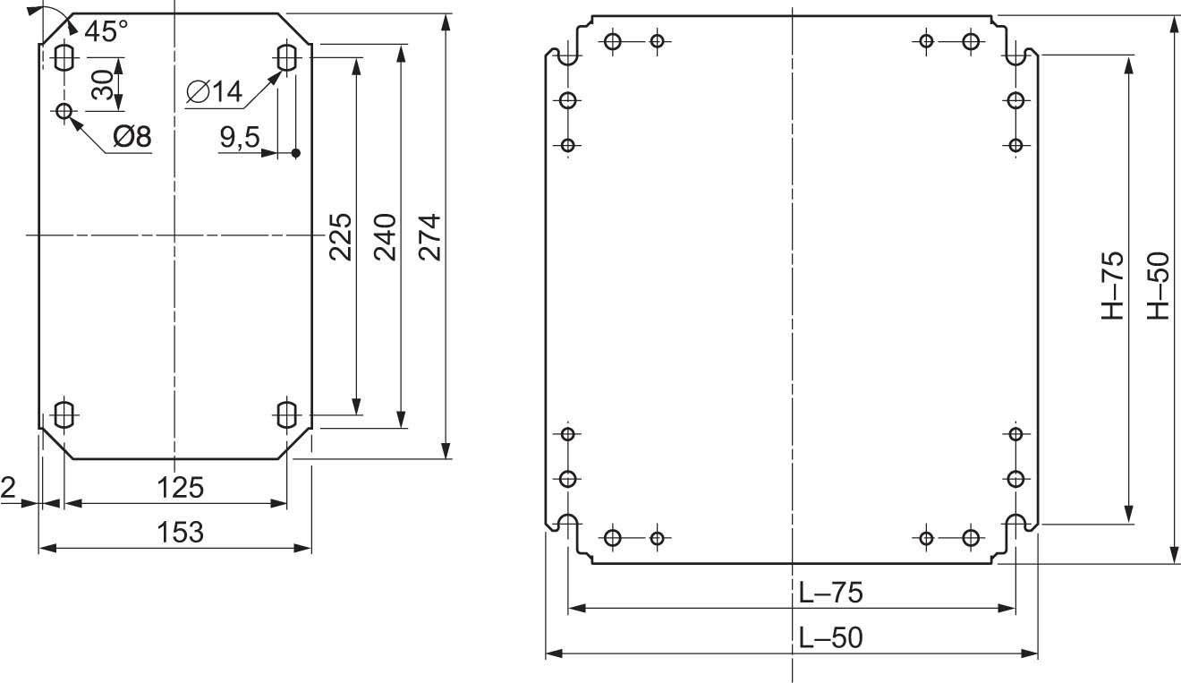Schneider Electric Plaque de montage Nsymm128Ciega, AL X 1200x 800mm d'en tôle d'acier galvanisé AL X 1200x 800mm d'en tôle d'acier galvanisé