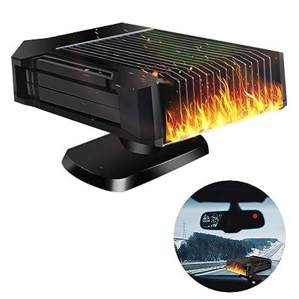 150W Windshield De-Icers Fast Heating Auto Heater Defrosts Defogger 360-degree Rotating Bracket 12 Volt Car Heater /& Cooling Fan