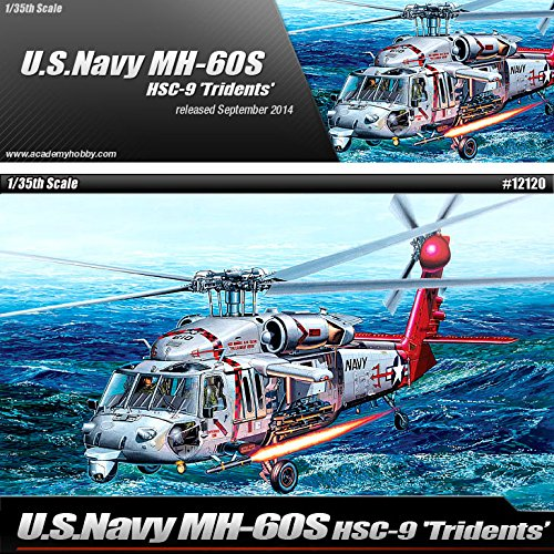 1 35 U.S.Navy MH-60S HSC-9 Tridents Helicopter 12120 - Plastic Model Kit by Academy