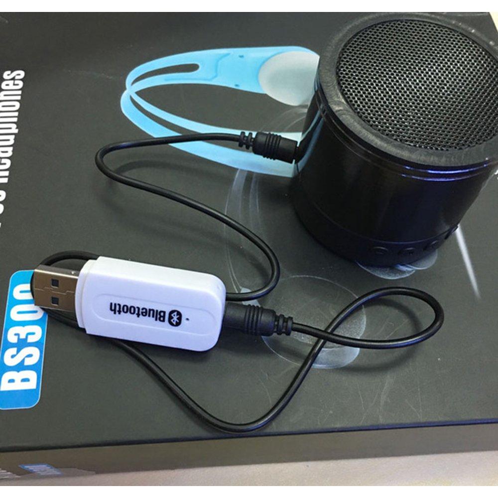 USB Bluetooth Musik Empf/änger 3,5 mm Stereo Ausgang f/ür tragbare Lautsprecher und Home Auto Stereo Systeme kompatibel mit iOS Android jedes Handy schwarz ly-B