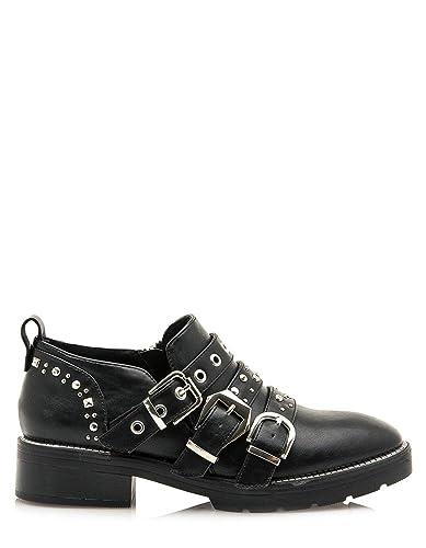 a54d825962 SixtySeven Studs Black Boots (41 - Black): Amazon.co.uk: Shoes & Bags