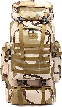 80L Military Tactical Backpack Waterproof Outdoor Rucksack Handbag Shoulder Bag