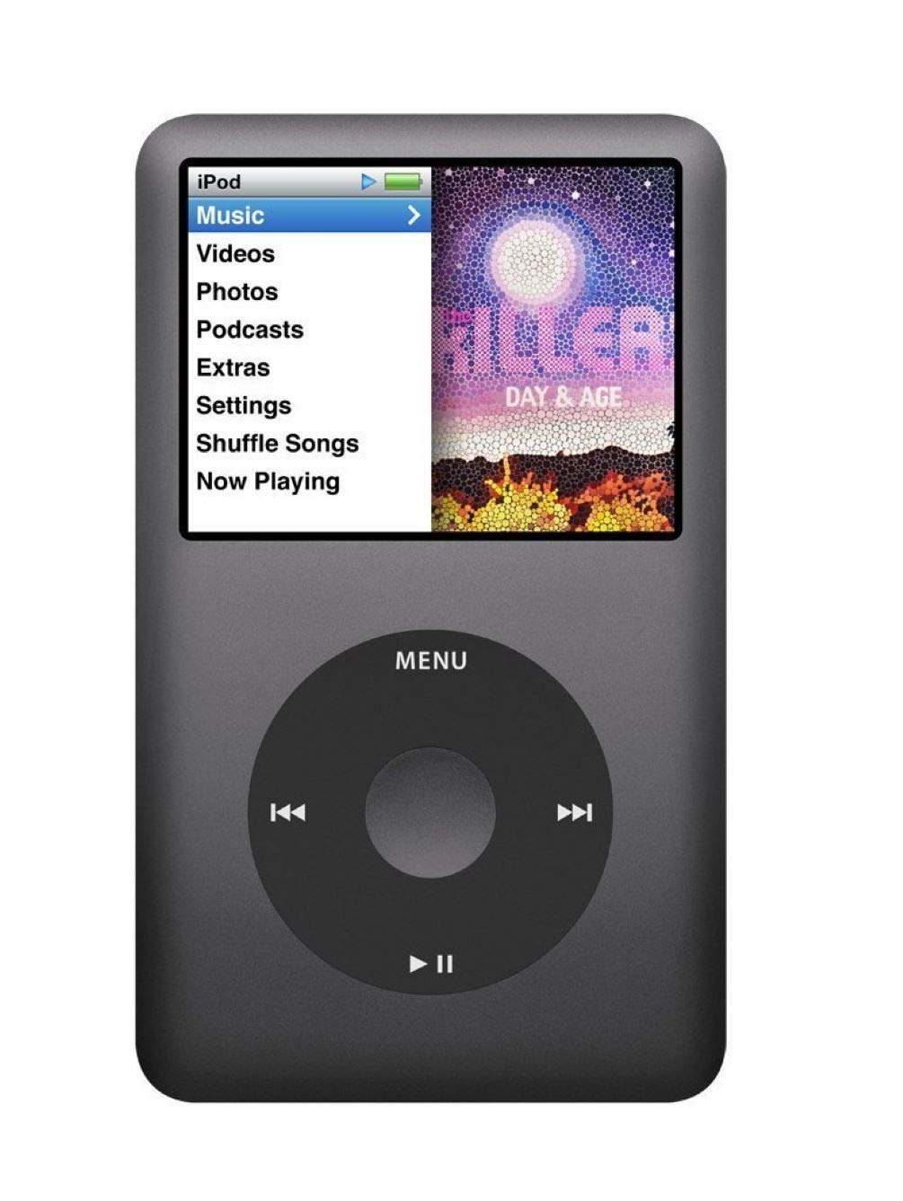 Music Player iPod Classic 7th Generation 160gb Black Packaged in Plain White Box
