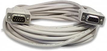 RS232 Male Female Extension Cable YCS Basics 25 Foot DB9 9 Pin Serial