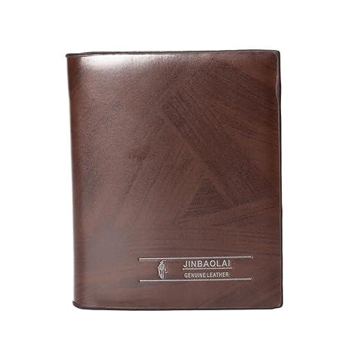 JINBAOLAI-MSKAY Baratos Hombre PU Cuero bolsillo Cartera, Marrón (paquete de 2), style 1: Amazon.es: Zapatos y complementos