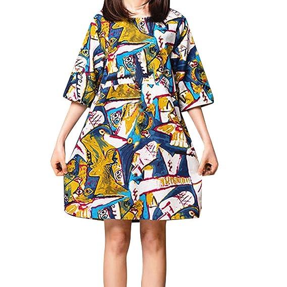 Amazon.com: OrchidAmor - Vestido suelto de bolsillo para ...
