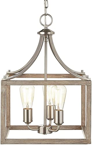 Home Decorators Collection Boswell Quarter 14 in. 3-Light Brushed Nickel Chandelier