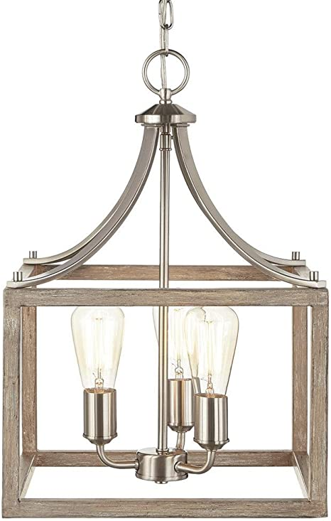 Home Decorators Collection 7948hdc Pendant 3 Light Boswell Nickel Painted Weathered Lamp Amazon Com