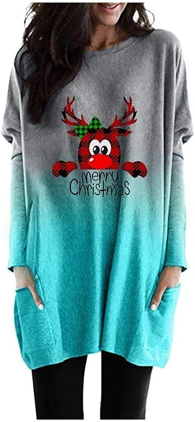 Hommes Femmes Mesdames Joyeux Noël Pom Pom Nouveauté Pull Vintage Sweater Tops