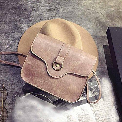 Igemy Mode Frau Leder Handtasche Crossbody Schulter Messenger Telefon Münze Tasche Pink