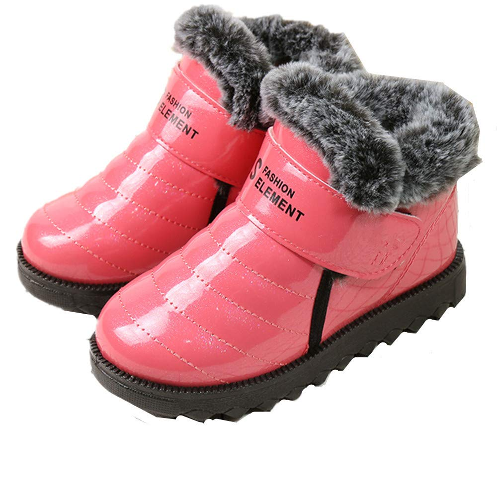 CHENSF Kids Snow Boots for Girls and Boys Youth /& Toddler Boots Fur Lined Waterproof