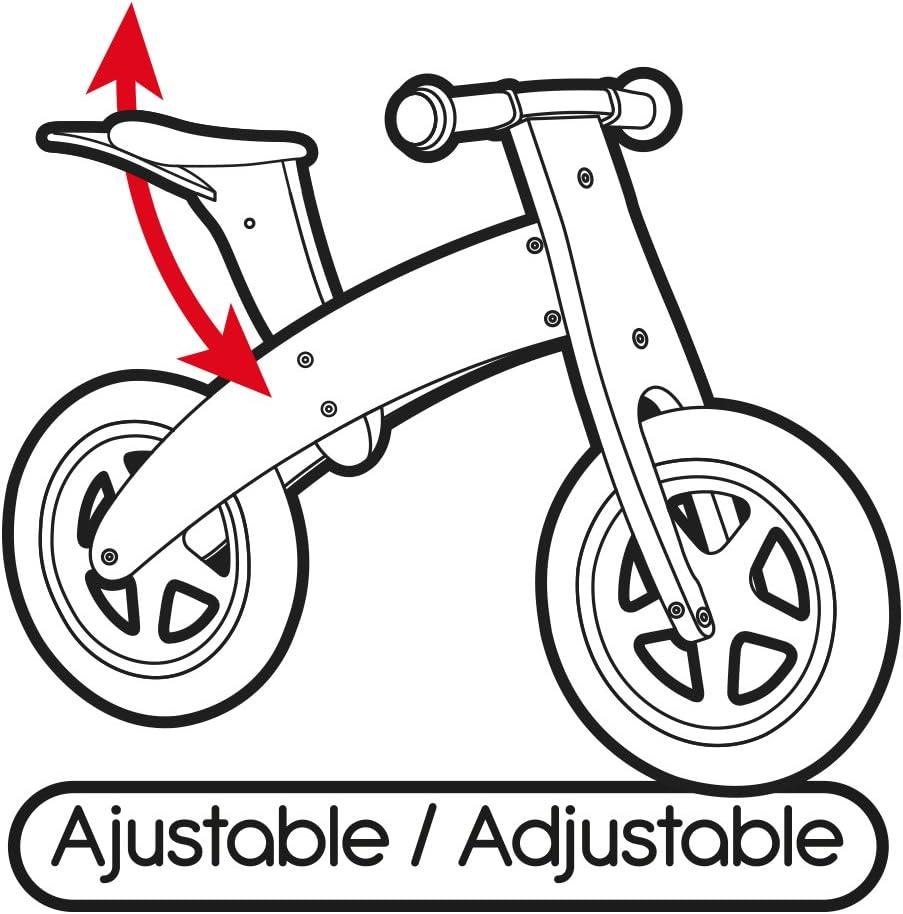 WOOMAX - Bicicleta sin pedales madera con cesta (ColorBaby 85102): Amazon.es: Juguetes y juegos