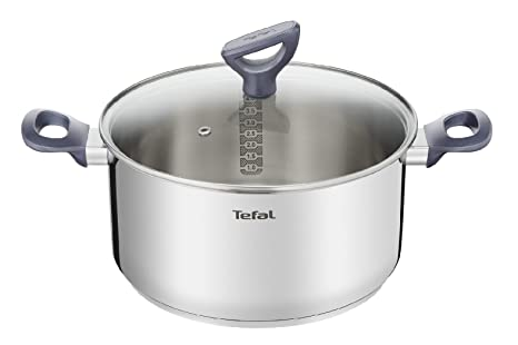 Tefal Daily Cook - Cacerola Acero Inoxidable con Tapa de 20 cm, 3 Litros,