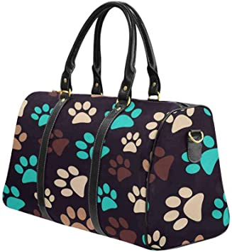 InterestPrint Unisex Duffel Bag Carry-on Bag Overnight Bag Weekender Bag Leopard Fur