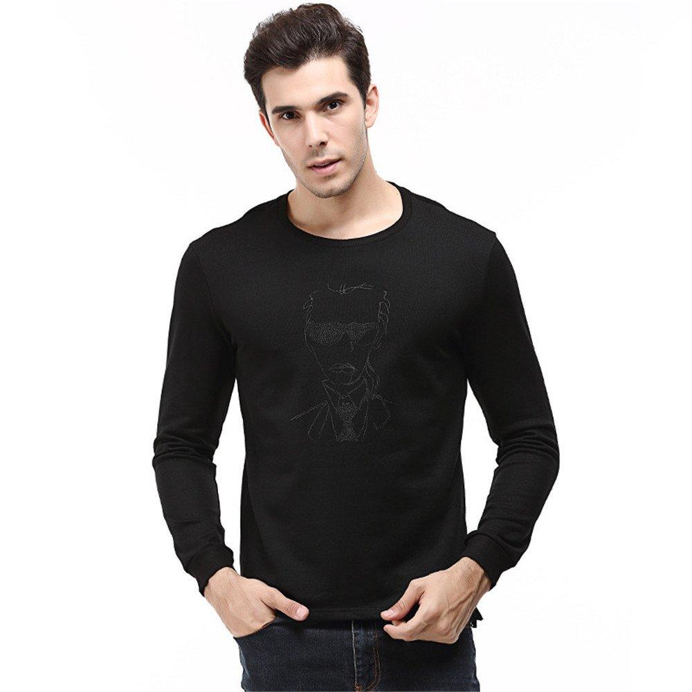 Lisux langärmelige t - Shirt Mode Fashion Shirt Hemd Pullover größe -,schwarz,XL