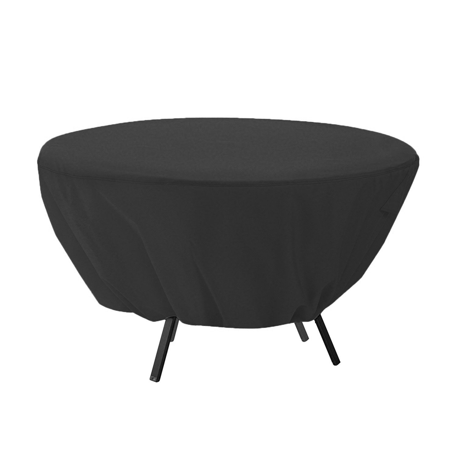 Mitef Waterproof Round Patio Table Cover – Outdoor Furniture Cover 50 inch,Black