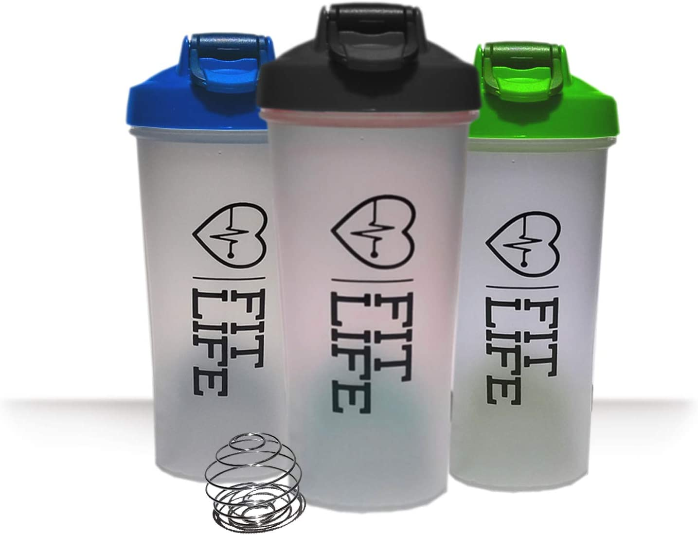 Shaker bottles for protein mixes, 20 Ounce Classic Protein Blender Bottle, Water Bottle, Dishwasher Safe, Leak Proof, Perfect Gym Fitness Gift, Fits most cup holders, BLACK