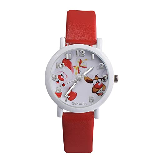 Kanpola Niño Smartwatch Fashion Relojes, Fashion Christmas Elderly Pattern Leather Band Analog Quartz Vogue Watches: Amazon.es: Relojes