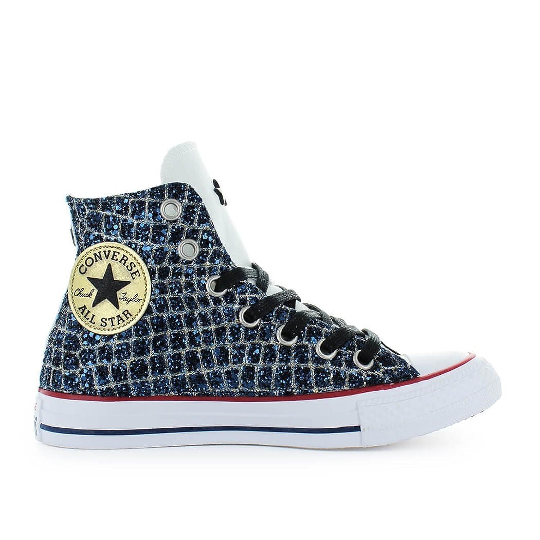 Zapatos de Mujer Zapatilla Converse Chuck Taylor All Star Ltd Ed Glitter Azul Primavera Verano 2018 40 EU
