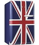 Smeg FAB10LUJ Standkühlschrank mit Gefrierfach / Union Jack / Linksanschlag / Kühlteil 101 Liter / Gefrierfach**** 13 Liter